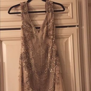 All beaded dress